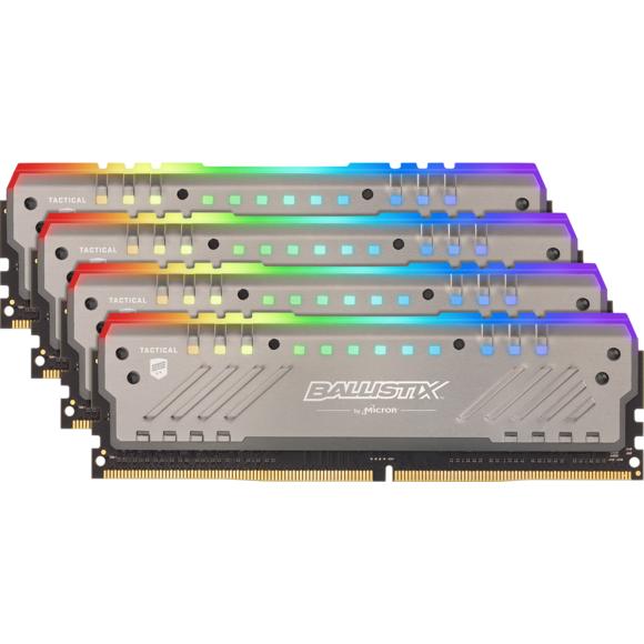 Kit mémoire DDR4 Crucial Ballistix Tactical Tracer RGB BLT4K16G4D26BFT4 64 Go (4 x 16 Go) - 2166 MHz, CL16