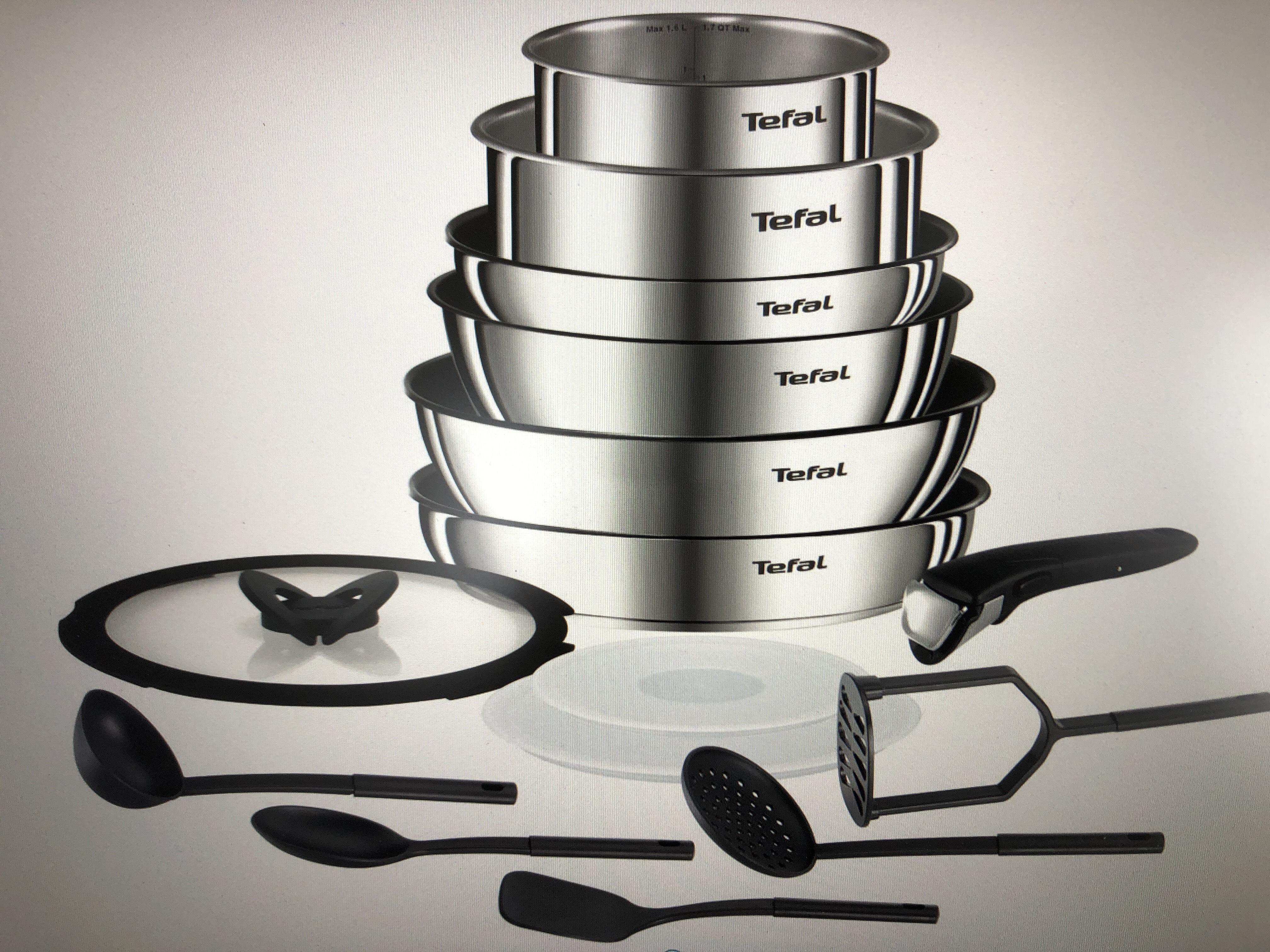Batterie de cuisine Tefal 15 pièces (L925SF14) - Tous feux dont induction