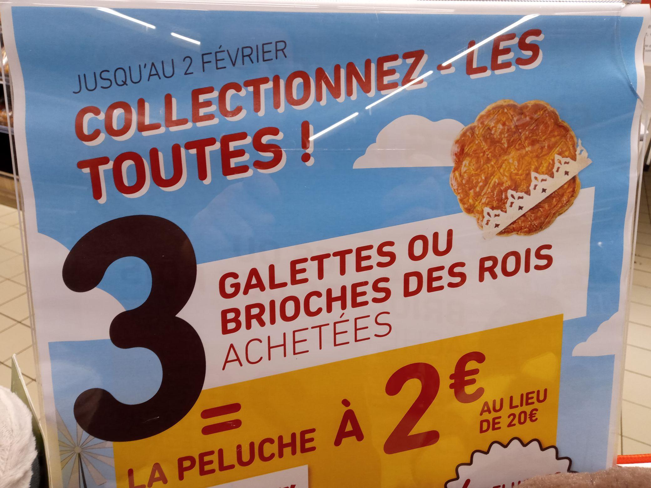 3 galettes ou brioches achetées = La peluche de la ferme à 2€ - Poitiers (86)