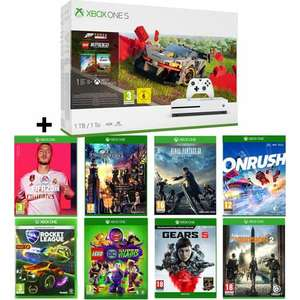 Console Xbox One S (1 To) Edition Forza Horizon 4 + 8 Jeux