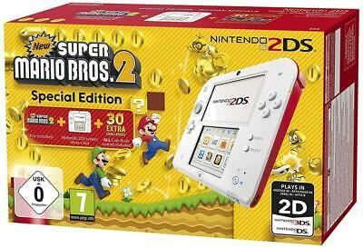 Console Nintendo 2DS (Noire & bleue) + New Super Mario Bros. 2 (Reconditionné - +6€ en SuperPoints)