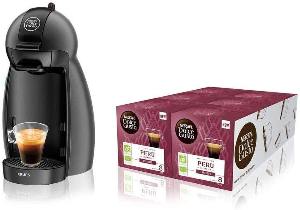 Machine à café Krups Bundle Piccolo YY4099FD (Anthracite) + 6 Boites de 12 capsules Bio Peru
