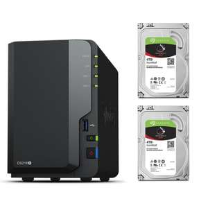 Serveur de Stockage NAS Synology DiskStation DS218+ + 2 x Seagate IronWolf - 4 To