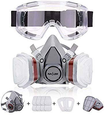 Masque de Filtration + 2 Filtres + 2 Boîtes + 8 Cotons Filtrants + Lunettes (Vendeur Tiers)