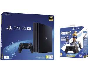 Console PS4 Pro 1 To + 2 Manette Dual Shock 4 V2 pour PS4 - Noir + Code Fortnite (Digital)