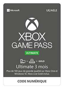 Abonnement Xbox Game Pass Ultimate - 3 Mois