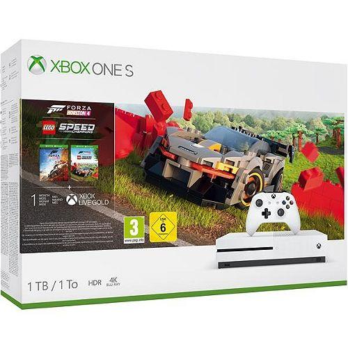 Xbox One S 1 To + Forza Horizon 4 + DLC Forza LEGO + 27€ de SuperPoints (Vendeur Boulanger)