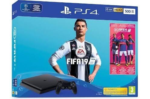 Console Sony Playstation 4 Slim 500go Black + Fifa19 (175,99 avec le code BFSTART12)