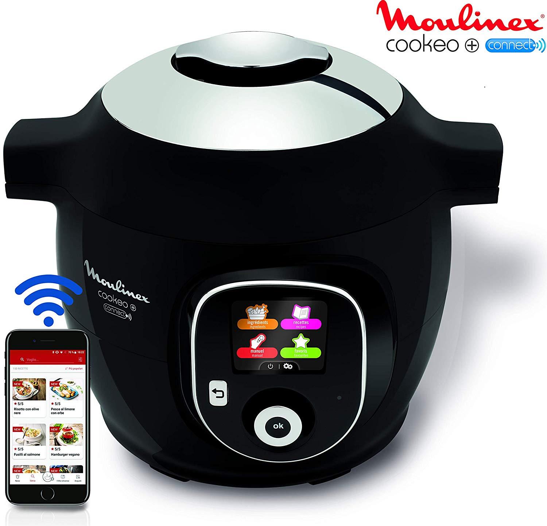 Multicuiseur Moulinex Cookeo+ Connect CE855800 - 1600W, 6L, 150 recettes (Via 83.70€ sur la carte)