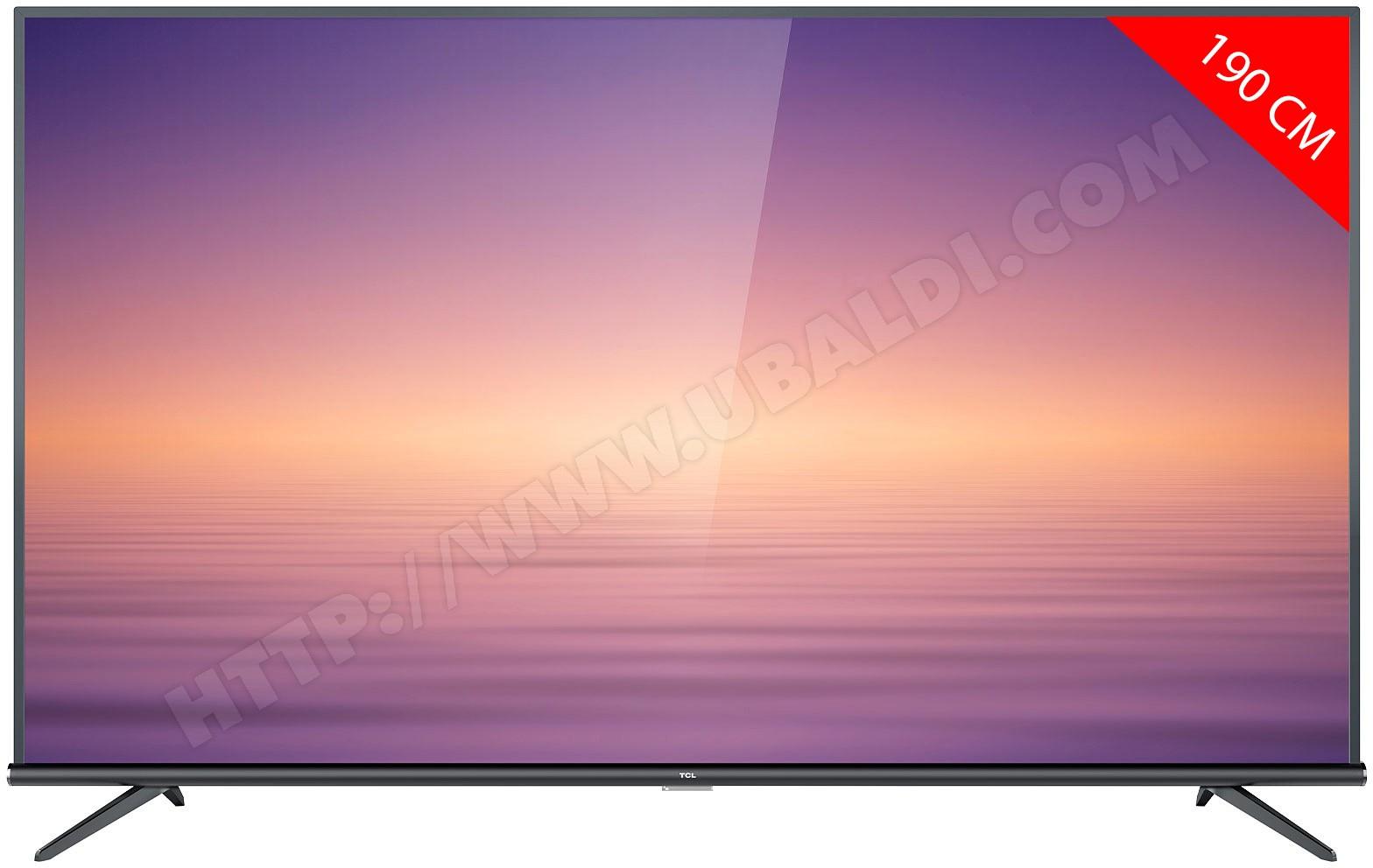 """TV LED 75"""" TCL 75EP663 - 4K UHD, DALLE VA - Smart TV (Via ODR 200€)"""
