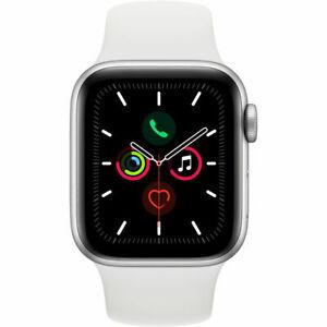 Montre Connectée Apple Watch Series 5 (GPS) - 40 mm, Bracelet Sport Blanc