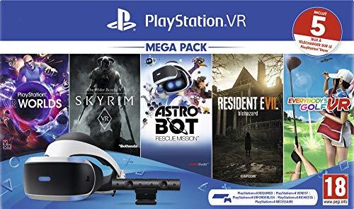 PlayStation VR Méga Pack 2 : Caméra + 5 jeux digitaux (VR Worlds + Skyrim + Astrobot + Everybody's Golf + Resident Evil 7)