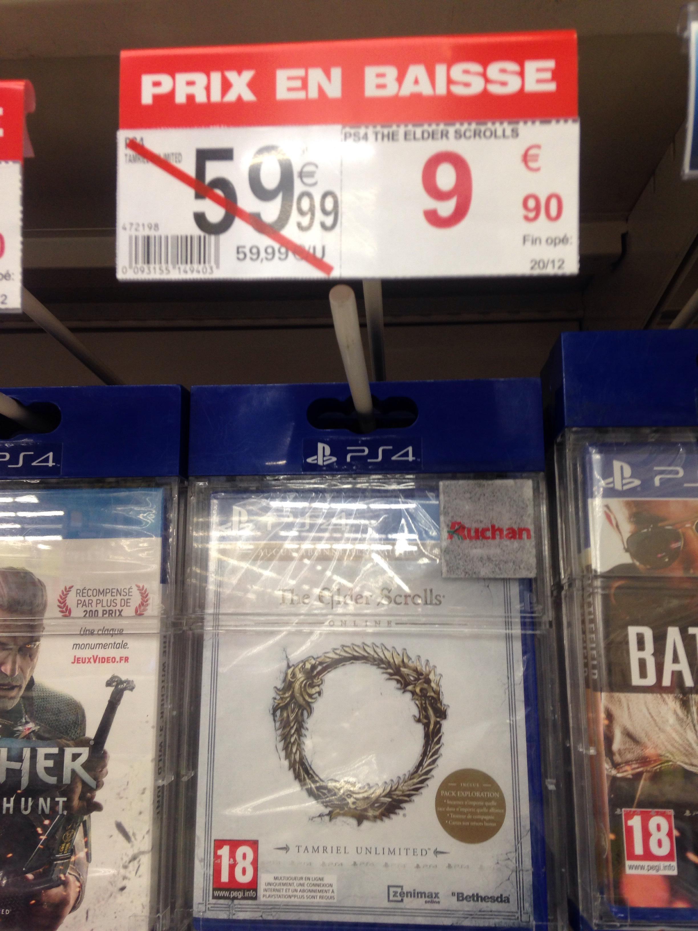 Jeu The Elder Scrolls Online sur PS4