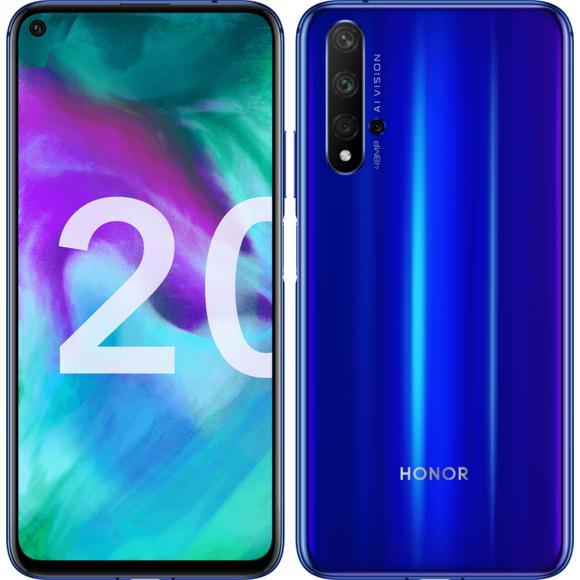 "Smartphone 6,26"" Honor 20 - Kirin 980, 6/128 Go, quadruple capteur arrière (Via ODR de 100€)"