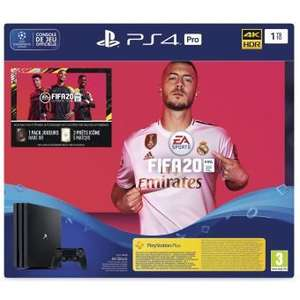Console Sony PS4 Pro (1 To) + FIFA 20 + 14 jours en PS Plus 20 (Frontaliers suisse)