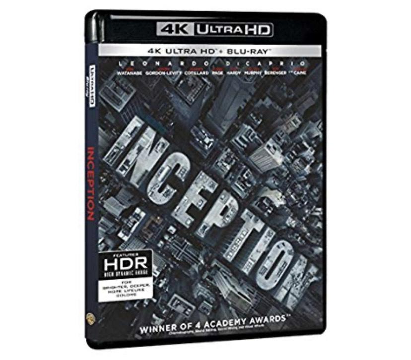 Film Blu-Ray Inception - 4K Ultra HD