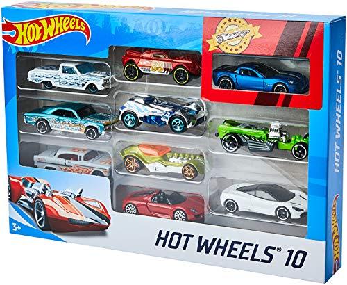 Coffret de 10 véhicules Hot Wheels 54886 (modèles aléatoires)