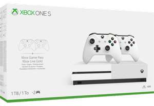 Console Microsoft Xbox One S 1 To + 2eme manette (Frontaliers Suisse)