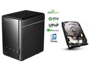 Serveur NAS D-LINK DNS-320 + Disque dur Seagate 2 To / Paiement via Buyster