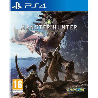 Sélection de jeux et accessoires en promo ex : Monster hunter world sur PS4 ou Xbox One