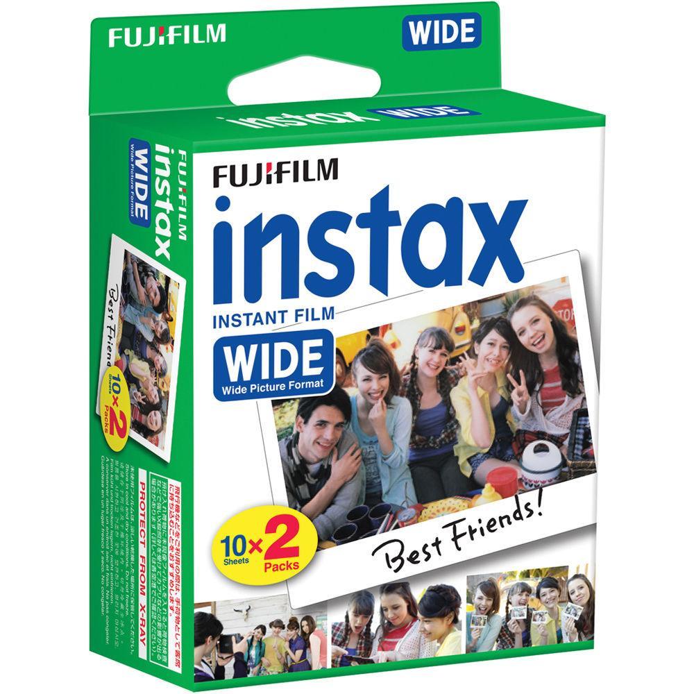 4 packs de 20 poses instantanées Fujifilm Film Instax Wide (99 x 62 mm)