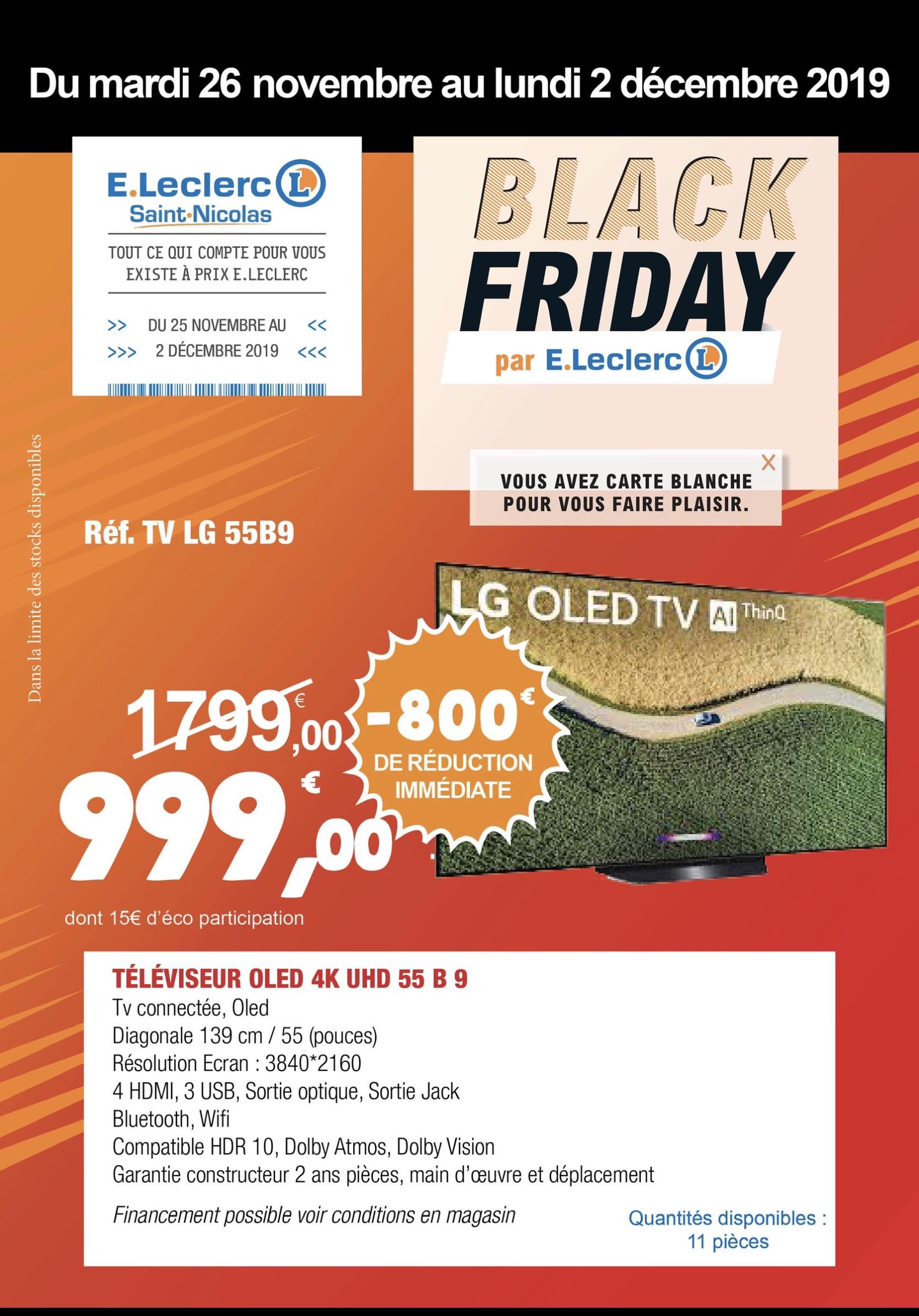 """TV 55"""" LG 55B9 2019 - OLED, 4K UHD - Saint Nicolas Redon (44)"""