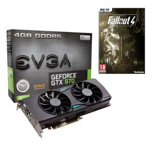 Carte graphique EVGA GeForce GTX 970 SSC Gaming ACX 2.0+ 4 Go + Fallout 4 + Assassin's Creed ou Rainbow Six Siege