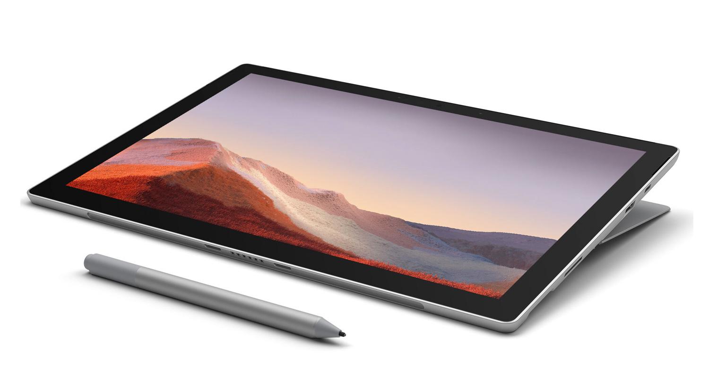 Microsoft Surface Pro 7 Platine - Intel Core i3, 4 Go RAM, 128 Go SSD