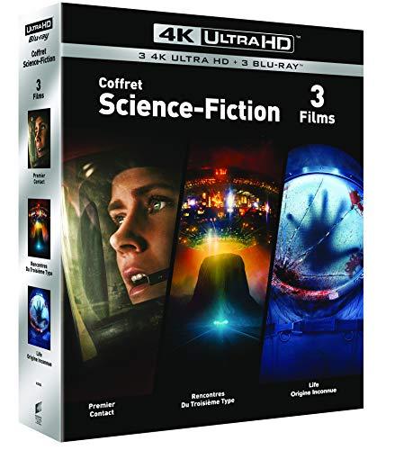 Coffret Blu-ray 4K UHD Science Fiction : Premier Contact + Rencontres du 3e Type + Life : Origine Inconnue