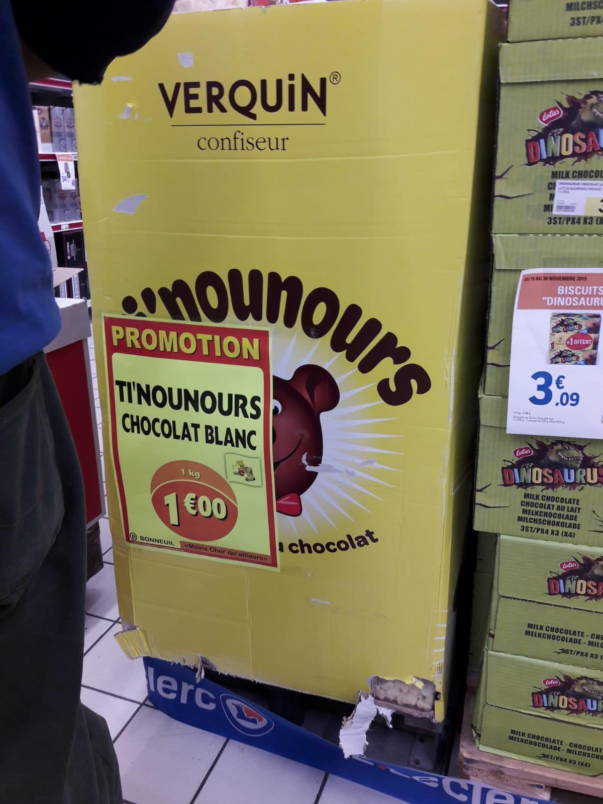 Boîte de bonbons Verquin Ti Nounours Chocolat blanc - 1 Kg - Bonneuil-sur-Marne (94)