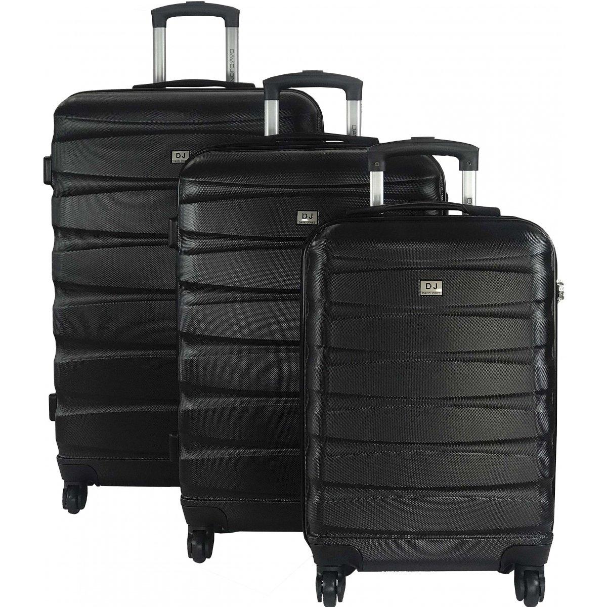 3 valises rigides David Jones (dont une cabine) - Noir