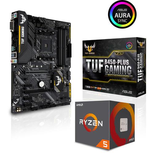 Processeur AMD Ryzen 5 2600 + Carte Mère Asus TUF B450 Plus Gaming + 3 mois d'abonnement Xbox Game Pass