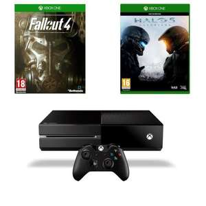 Console Xbox One 1 To + Fallout 4 & 3 + Halo 5