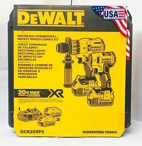 Pack perceuse-visseuse sans fil + Visseuse à choc Dewalt 20 V DCK299P2 (Frais de port et taxes inclues)