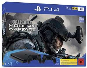 Pack console Sony PlayStation PS4 Slim (1 To, noir) + 2ème manette + Call of Duty: Modern Warfare