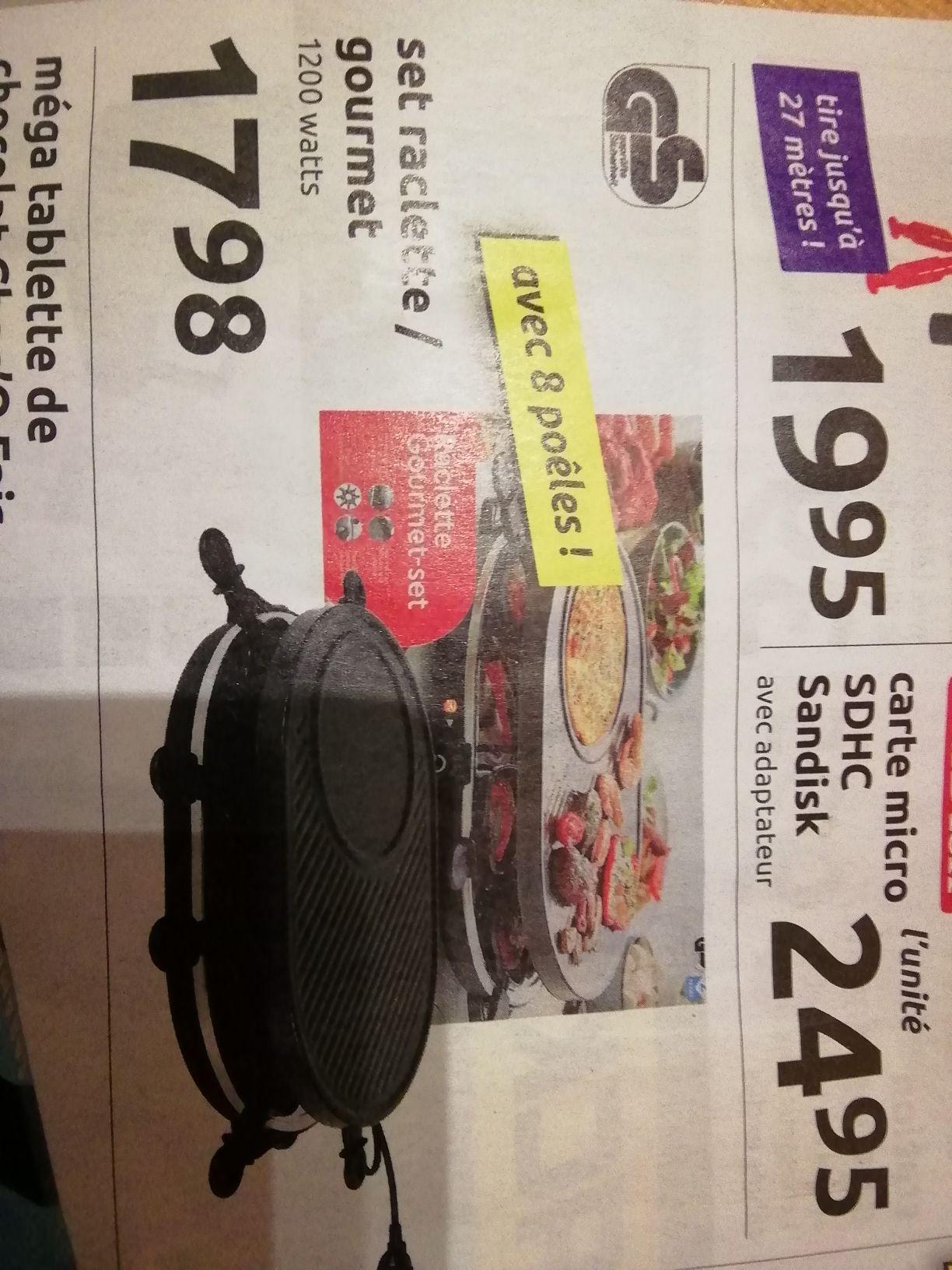 Appareil à Raclette 8 personnes - 1200W
