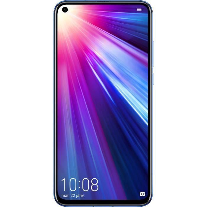 "Smartphone 6.4"" Honor View 20 Phantom Blue - 256Go, Full HD+, Kirin 980, RAM 8Go, batterie 4000mAh"