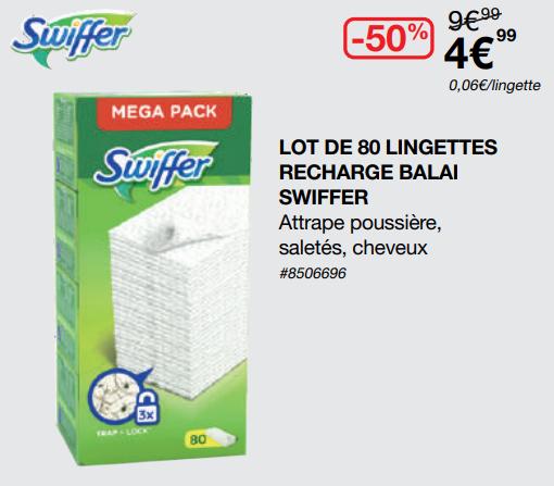 [Carte Costco] Lot de 80 lingettes pour recharge balai Swiffer - Villebon-sur-Yvette (91)
