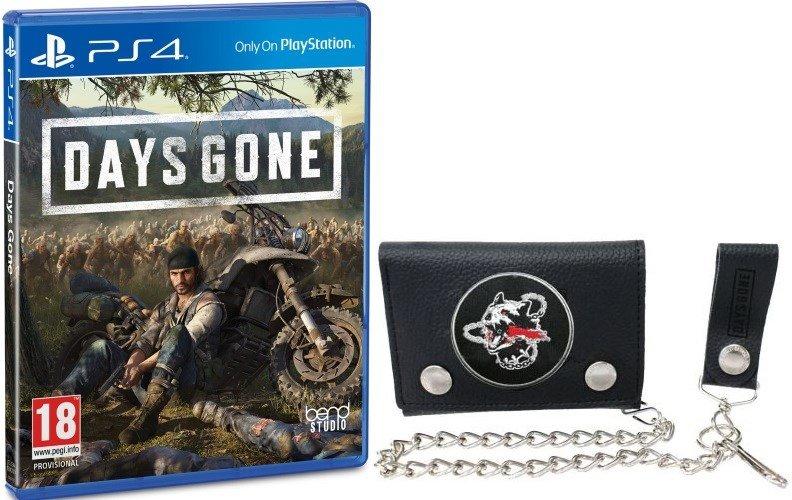 Days Gone sur PS4 + le Portefeuille Days Gone Noir