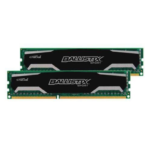 Kit mémoire 2 x 8 Go (16 Go) Crucial  Ballistix Sport  DDR3 1600 MHz Cas 9