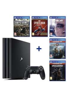 PAck Console Sony PS4 Pro 1to + 5 jeux