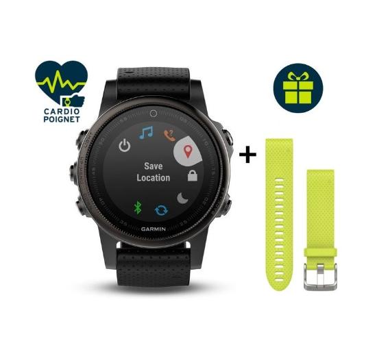 Montre Connectée Garmin Fenix 5S GPS Multisport Sapphire + Bracelet QuickFit