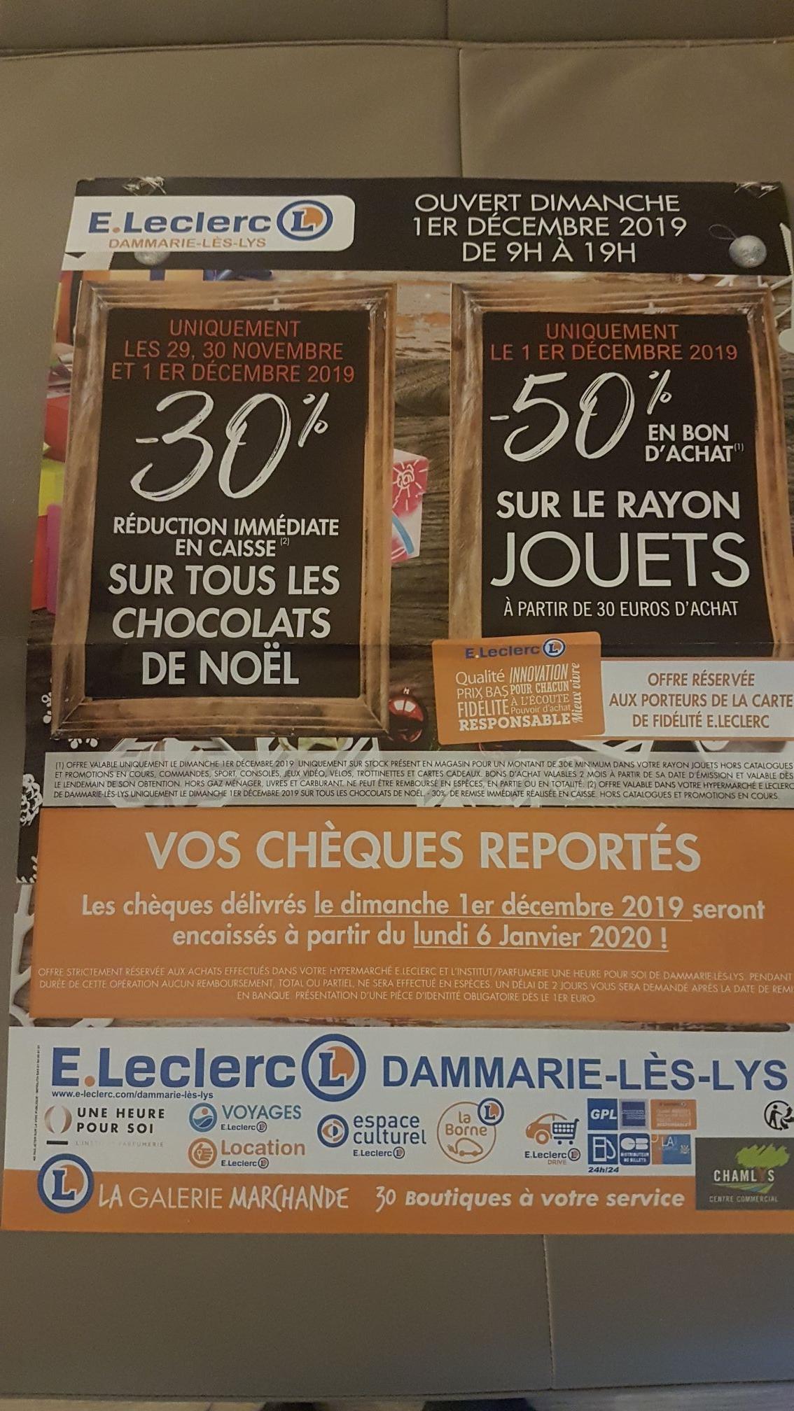 -50% en bon d'achat sur le rayon jouets - Dammarie les lys (77)