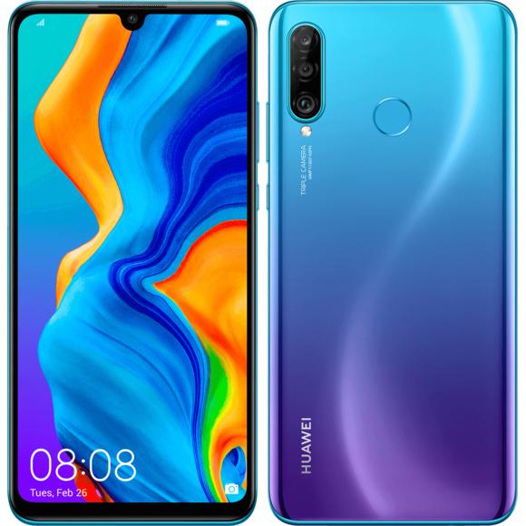 "Smartphone 6.15"" Huawei P30 Lite - Full HD+, Kirin 710, 4 Go RAM, 128 Go, coloris au choix"