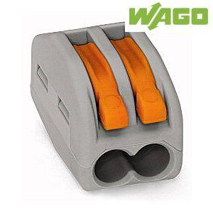 Lot de 50 bornes de raccordement Wago - 2 Entrées