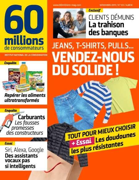 Abonnement au Magazine 60 Millions de Consommateurs - 12 Mois (12 numéros dont 1 N° hors série spécial Impôts)