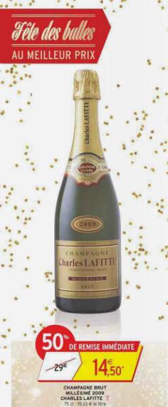Champagne brut millésimé 2009 Charles Lafitte