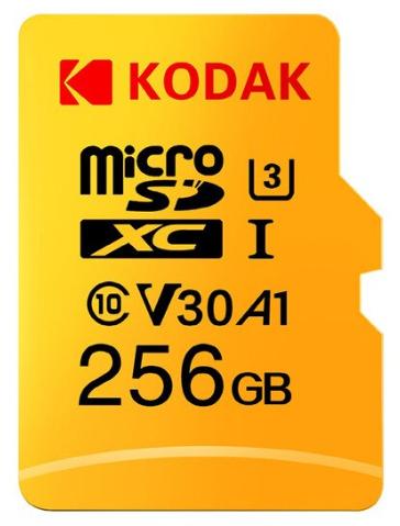 Carte microSDXC Kodak U3 A1 - 256 Go