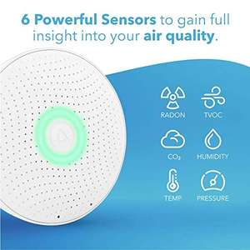 Dispositif de mesure de l'air Airthings Wave Plus