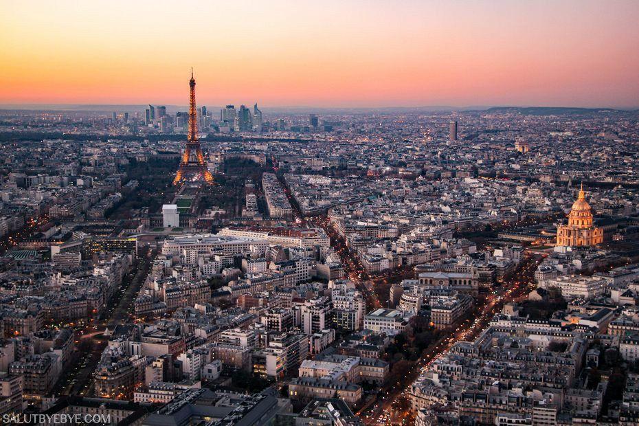 Vue panoramique de Paris depuis la tour Montparnasse (Paris 75015)